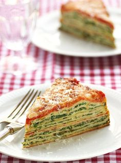 Use crepes to make this Lasagna with Ricotta and Spinach. by Ирина Дубровская