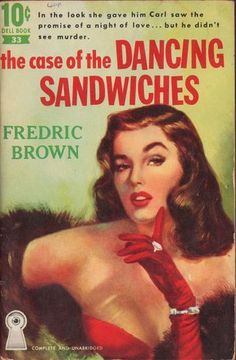 The Case of The Dancing Sandwiches Fredric Brown Vintage Dell Paperback Book 33 | eBay