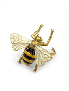 Flying Bee ring by MafiaStudio http://www.etsy.com/listing/116241593/flying-bee-ring-in-brass-with-enamel?ref=related-5