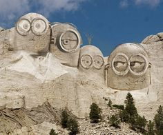 Mount Rushmore gets a facelift with the Minions.