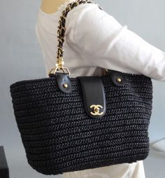 Chanel Woven Tote. Want in natural for summer!