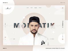 Monatik Singer website concept
