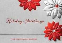 Glittering Poinsettias - The Fancy Envelope