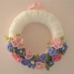 Prettiest felt wreath I've ever seen!