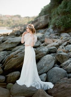 Jupe et top mariée bohème - Robe: The Babushka Ballerina - Photo: Jemma Keech Bridal Outfits, Bridal Dresses, Wedding Gowns, Lace Wedding, Bridesmaid Dresses, Trendy Wedding, Wedding Blog, 2015 Wedding Trends, Bridal Separates