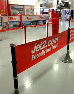 Jet2.com use Tigrox banner barrier at Leeds Airport - tigrox.com