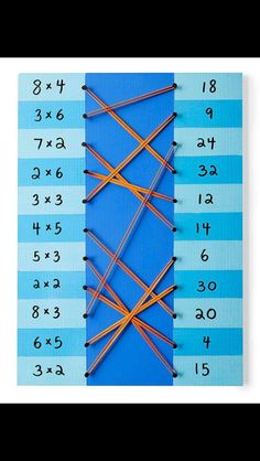 Math facts lacing