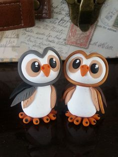 Custom Handmade Clay Owl Wedding Cake Topper by RSQD on Etsy, $85.00
