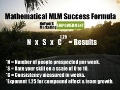In other words, you've gotta do 3 things to SMOKE this business. 1) Prospect a set number of people per week. 2) Spend a set amount of time improving per week. 3) Do it week in and week out, without fail. The compound effect in network marketing can be stunning IF you pay the price up-front, and in full. Visit http://networkmarketingempowerment.com #multilevelmarketing #networkmarketing #mlm #networkmarketers #mlmers #homebusiness #homebiz #wahm #workathome #workathomemom #directsales