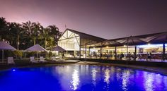 Mercure Townsville Townsville Situated on 11 acres of lush tropical gardens, The Mercure Townsville is a resort-style hotel on the shores of The Lakes. It offers the largest free-form swimming pool in Townsville, a spa pool, a children's pool and tennis courts.