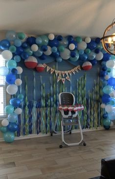 Ofishally one Fishing themed birthday party backdrop 1 Year Old Birthday Party, Boys First Birthday Party Ideas, Baby Boy 1st Birthday, Boy Birthday Parties, First Birthday Decorations, Circus Birthday, Birthday Woman, 80th Birthday, Baby Shower