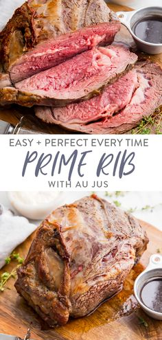 This easy prime rib recipe with au jus and *perfect* creamy horseradish sauce is perfect for the holidays! This easy prime rib recipe is truly just that: super easy, and it produces a perfect medium rare, tender roast that everyone will love. With an easy au jus and the most perfect creamy horseradish sauce I've ever tasted, this easy prime rib recipe also has options to make it a paleo prime rib or Whole30 prime rib, too - even the horseradish sauce! #primerib #christmasdinner #christmas…