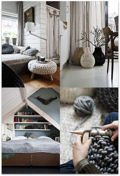 love the chunky knit stool and the rooms are pretty great too!