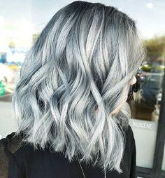 STONEWASHEDDENIM • I always have fun formulating these silver blue tones! #lob cut a... | Use Instagram online! Websta is the Best Instagram Web Viewer!