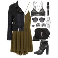 A fashion look from July 2016 featuring French Connection jackets, Cosabella bras and ASOS ankle booties. Browse and shop related looks.