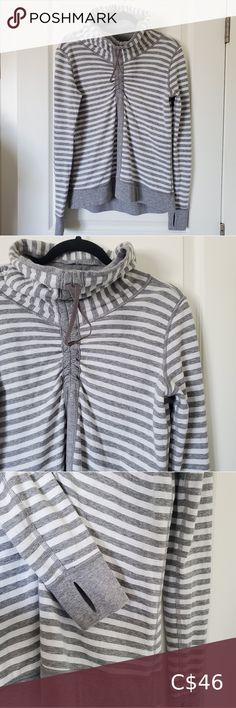 LULULEMON In a Cinch Pullover Size 6 In used but excellent condition Size 6 - no size dot No flaws to note. lululemon athletica Tops Sweatshirts & Hoodies Zip Up Sweater, Sweater Hoodie, Pullover, Lululemon Hoodie, Lululemon Athletica, Yellow Hoodie, Plaid Blanket Scarf, Sleeveless Hoodie, Black Knit