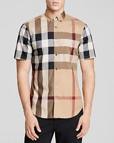 Burberry Brit Fred Short Sleeve Slim Fit Button Down Shirt Burberry Shirt, Burberry Men, Mens Polo T Shirts, Shirt Men, Polo Shirt, Mens Designer Shirts, Casual Button Down Shirts, Shirt Designs, Men Casual