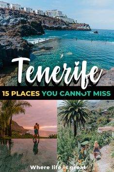 Tenerife has it all: lash tropical scenery, banana plantations, volcanoes, and gold sand beaches. By sharing my own Tenerife itinerary I want to show you what to do and see in 5 days in Tenerife. Places To Travel, Travel Destinations, Places To Visit, Holiday Destinations, Voyage Europe, Destination Voyage, Travel Goals, Vacation Travel, Travel Tips