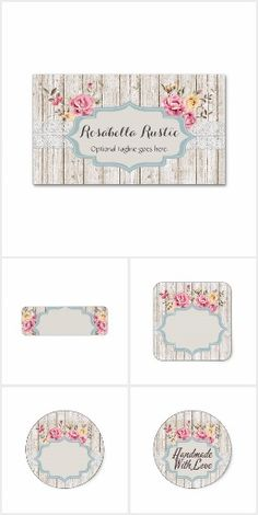 Cottage chic sewing on zazzle smallbusiness branding printable rosabella rustic on zazzle rustic shabbychic cottage wood farmhouse marketing brandingbusiness marketingbusiness cardsroses reheart Image collections