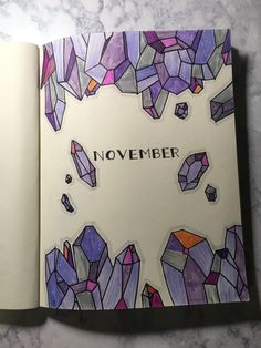 November bullet journal cover