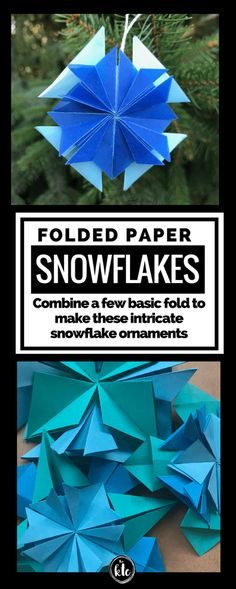 Some things are worth being precise.Follow a few simple directions and you get beautiful folded paper snowflakes to use as ornaments and beyond.  So pretty!