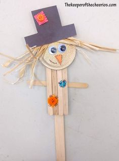Holiday Craft Fun With Cute Popsicle Scarecrow