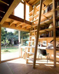 Wood office.