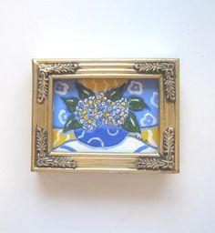 Hydrangea Still Life Painting Original acrylic on by BrookeHowie, $26.00