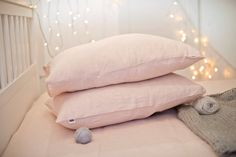 Soft pink linen pillow case, made of stone washed linen. Romantic pale pink colour. Natural, breathable - for a deep all night sleep...  Closure: envelope closure.  The listing is for 1 pillow case. If you ever had a linen bedding, you are already familiar with linens magic powers. It is regulating body temperature - fresh in hot summer and warm in winter, antiallergic. Linen fabric does not stick to the body, it is light but very strong. Linen fabric is a natural antiseptic, it kills…