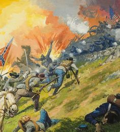 Battle Of Gettysburg Painting - The Battle Of Gettysburg by Severino Baraldi