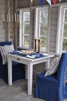 mom's breezeway had a little table like this
