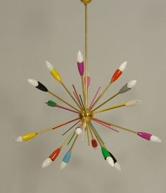 Our WattNott filament LED candle bulbs would look great in this retro shade - www.plumen.com