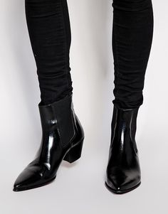 Image 1 ofASOS Boots in Leather