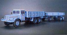 Tatra 111 S Valnikovym Privesem Truck Paper Model Free Template Download