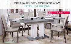 Dobieraj, mieszaj kolory wg własnego uznania i stwórz stół idealny do Twojego wnętrza. Rozkładany stół Aurora - 816,00zł