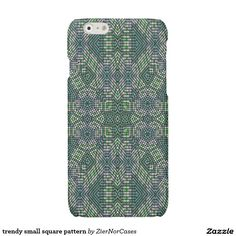 trendy small square pattern glossy iPhone 6 case