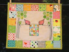 Mini quilts from Why not sew?
