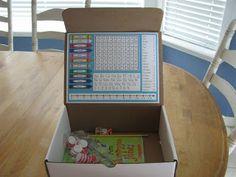 DIY Homework Boxes