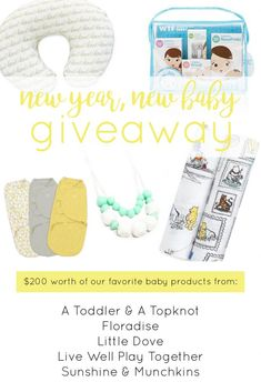 New Year, New Baby Giveaway! Win $200 worth of our favorite baby products! PLUS See My Baby Clothing Haul & Wish List
