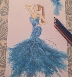 My first from Edgar Artis 😍🙏 #fashionsketch #fashionillustration  #fashionillustrator #copicmarkers #promarker #blue #copic #turkey #prints #drawing #fashion #happy #mei.