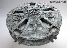 Battlestar Galactica: Cylon Base Star, Modell-Bausatz ... http://spaceart.de/produkte/bsg002.php