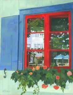 acrylic paintings of window