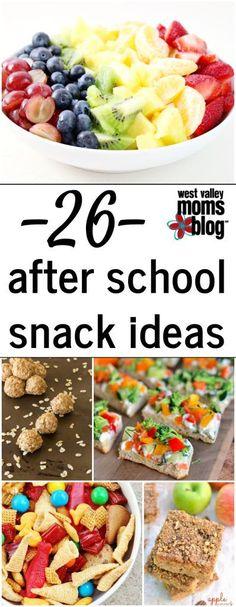 26 After School Snack Ideas