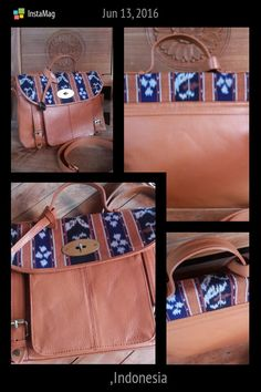 Messenger bag Lovely Handmade woven with cow leather