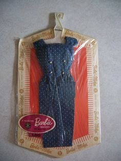 Thank goodness for sheath dresses that actually fit REAL women! haha :o) Vintage Barbie Blue Polkadot Sheath Dress
