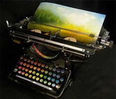 Modern Typewriter: American painter Tyree Callahan converted old typewriter from 1930s into a machine that prints colors instead of letters.