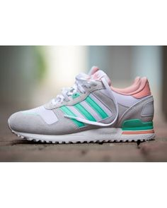 Adidas ZX 700 Womens Grey White Green Orange Up To 50% Off �54.80
