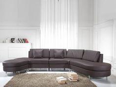 Novo Sofá Em Pele, 5 Lugares, Copenhagen - Beliani