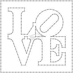 Love String Art Patterns Letters, String Art Templates, String Art Tutorials, Letter Patterns, String Wall Art, Nail String Art, Diy Wall Art, Wall Decor, Paint Chip Art