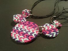 Imitating Knitting with FIMO #jewellery #jewelry #necklace